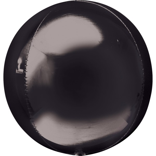 "Anagram Folienballon Orbz Black 40cm/16"""