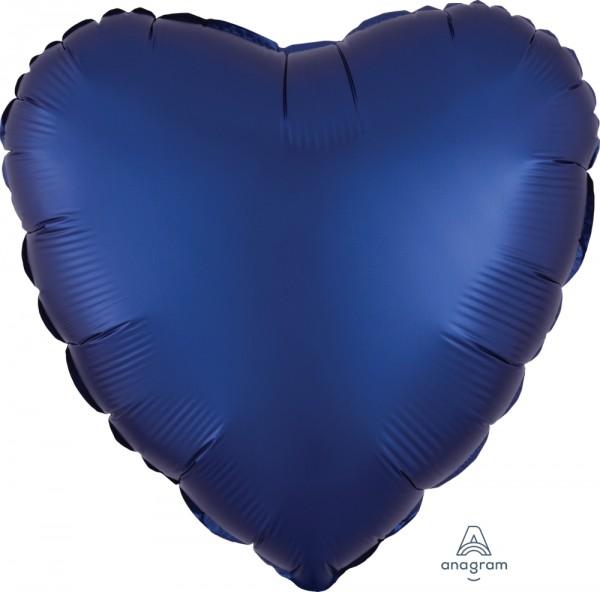 Anagram Folienballon Herz 45cm Durchmesser Satin Luxe Dunkelblau (Navy)