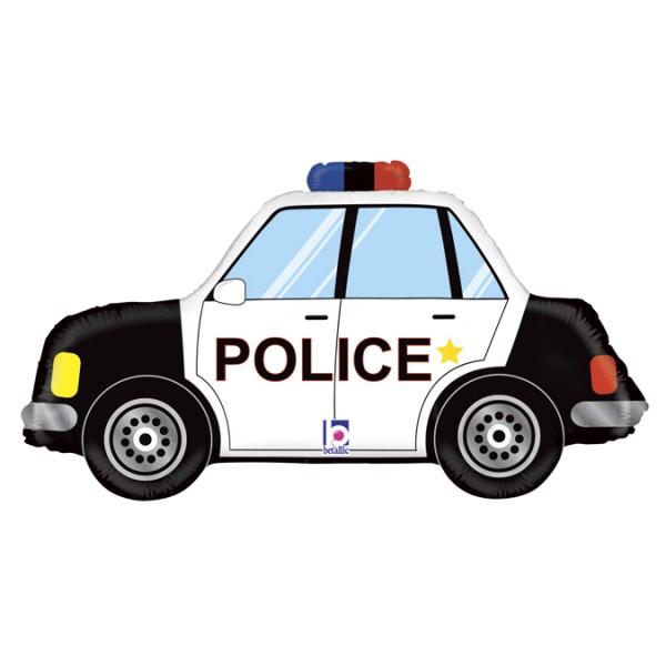"""Betallic Folienballon Police Car 86cm/34"""""""
