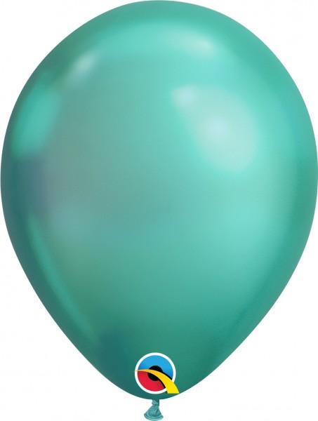 "Qualatex Latexballon Chrome Green 28cm/11"" 25 Stück"