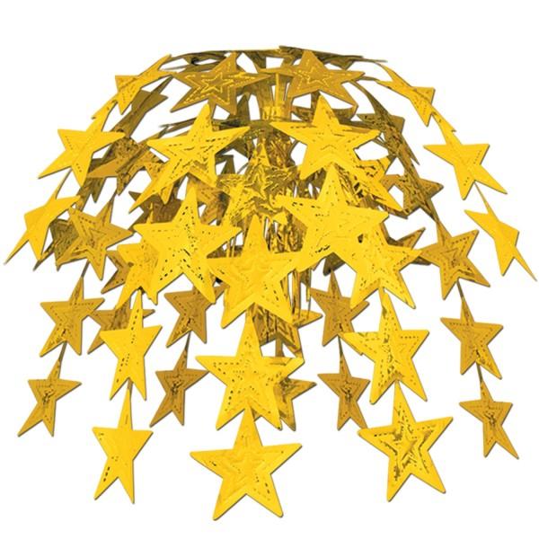 Beistle Sternen-Kaskade Centerpiece Gold