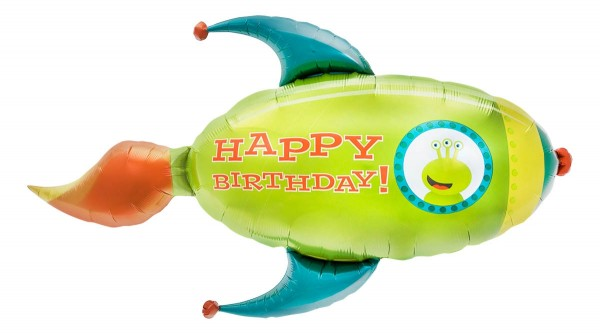 Northstar Folienballon Birthday Rocket 41""
