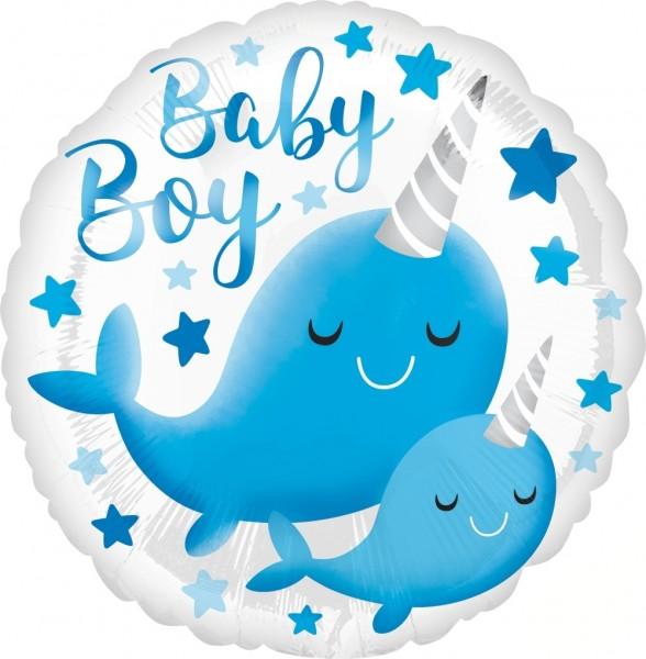 "Anagram Folienballon Narwhal Baby 23cm/9"""