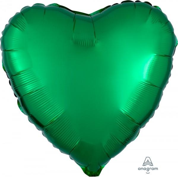 "Anagram Folienballon Herz Metallic Green 45cm/18"""