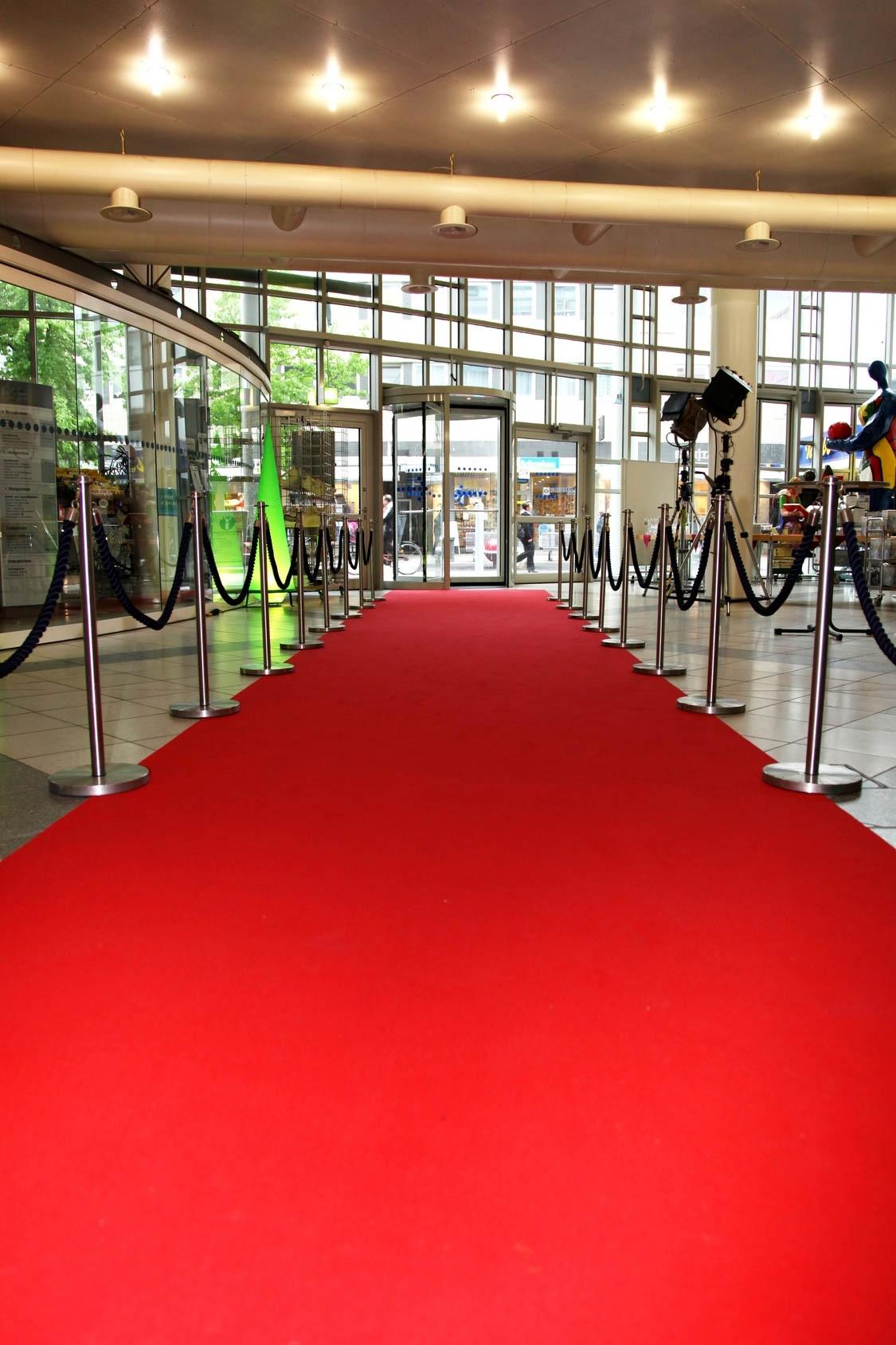 Premium Hochzeits Roter teppich Velour VIP 130x1000 cm rot