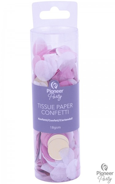 Pioneer Papier Konfetti Pink, White, Gold 18g