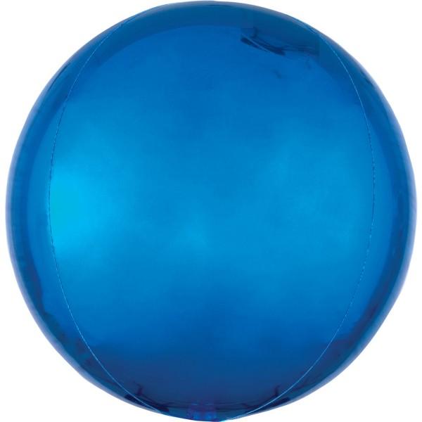 "Anagram Folienballon Orbz Blue 40cm/16"""