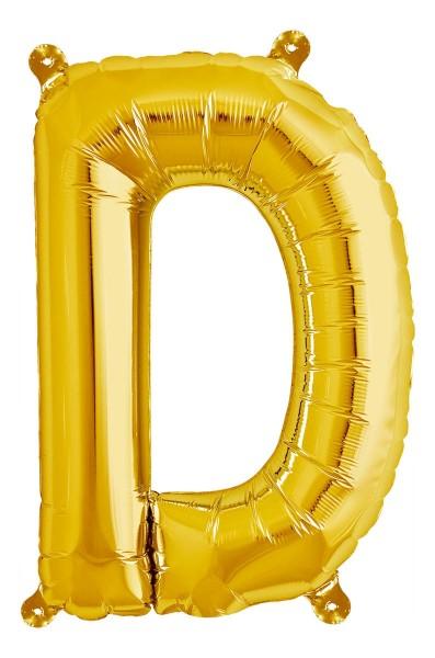 "Northstar Folienballon Buchstabe D Gold 40cm/16"""