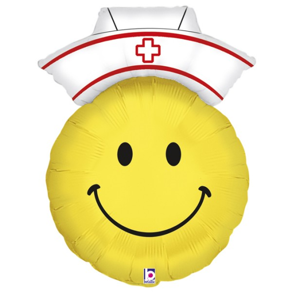 Betallic Folienballon Smiley Nurse 71cm/28""