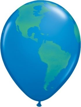 "Qualatex Latexballon Globe 28cm/11"" 25 Stück"