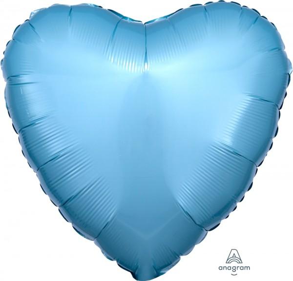 "Anagram Folienballon Herz Metallic Pearl Pastel Blue 45cm/18"""