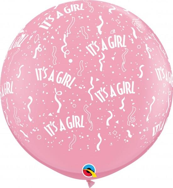 """Qualatex Latexballon Standard It's A Girl Pink 90cm/36"""" 2 Stück"""