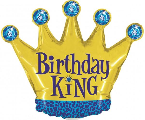 "Betallic Folienballon Birthday King Mini 35cm/14"""