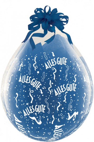 "Qualatex Verpackungsballon Alles Gute A-Round Diamond Clear 45cm/18"" 25 Stück"