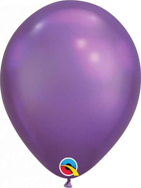 "Qualatex Latexballon Chrome Purple 18cm/7"" 100 Stück"