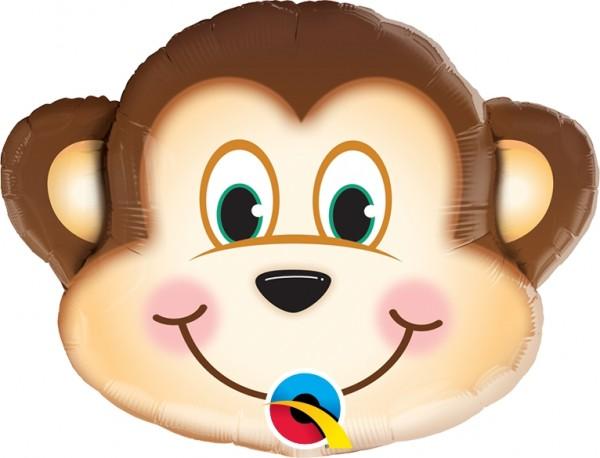 "Qualatex Folienballon Mischievous Monkey 36cm/14"""