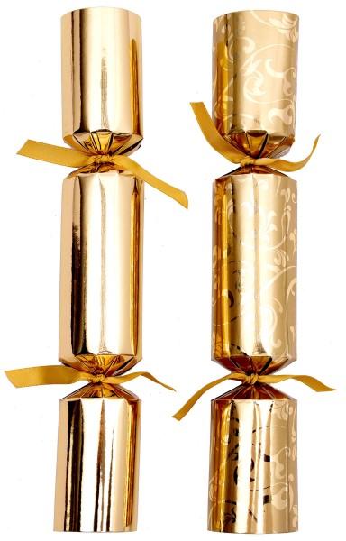 Celebration Crackers Knallbonbon, gold, 28cm, 50 Stück
