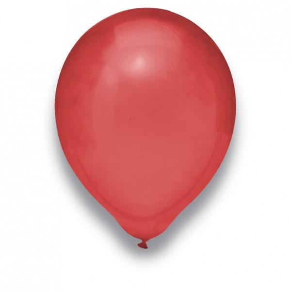 Globos Luftballons 100er Packung 30cm Durchmesser Burgund Naturlatex