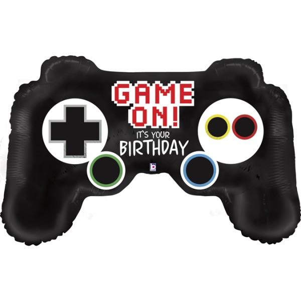 """Betallic Folienballon Game Controller Birthday 90cm/36"""""""