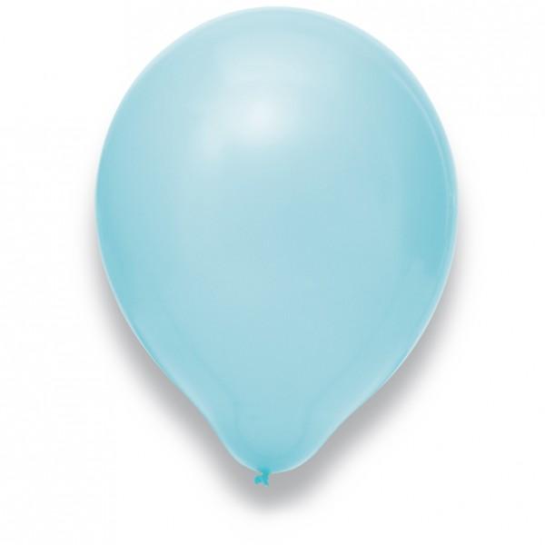 Globos Luftballons 100er Packung 30cm Durchmesser Hellblau Naturlatex