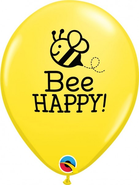"Qualatex Latexballon Bee Happy 28cm/11"" 25 Stück"