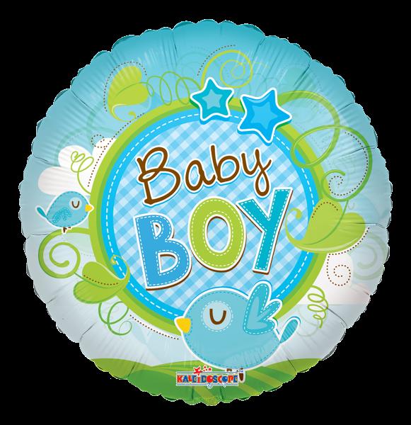 "Kaleidoscope Folienballon ""Baby Boy - Blauer Vogel"", 18"""