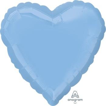 Anagram Folienballon Herz 45cm Durchmesser Hellblau (Pastel Blue)