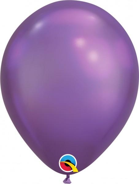 "Qualatex Latexballon Chrome Purple 28cm/11"" 100 Stück"