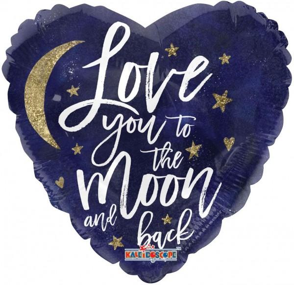 "Kaleidoscope Folienballon Love You To The Moon 18"" S"