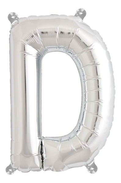 "Northstar Folienballon Buchstabe D Silver 40cm/16"""