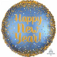 "Anagram Folienballon Gold & Satin ""Happy New Year"" 45cm/18"""