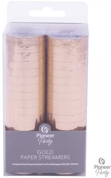 Pioneer Papier Luftschlangen Gold 2 Rollen