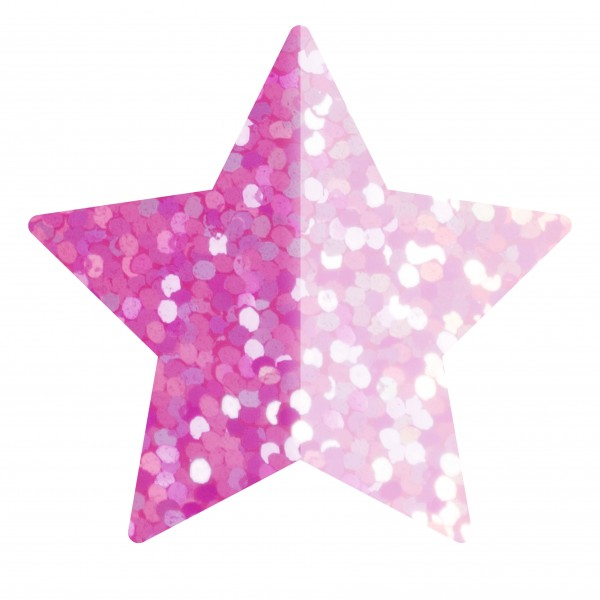 Goodtimes Folienkonfetti 1,7cm Stern 15g Holo Pink