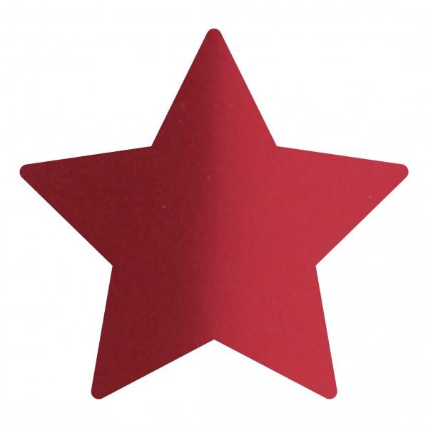 Goodtimes Folienkonfetti 1,7cm Stern 1kg Satin Rot