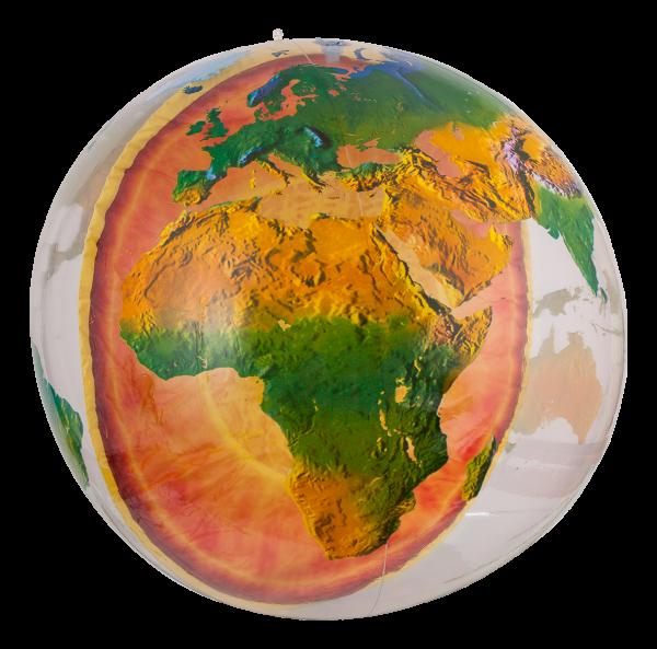 Jet Creation Globus mit Erdkern