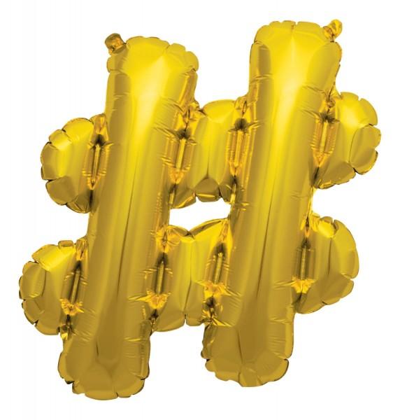 "Northstar Folienballon Zeichen # Gold 40cm/16"""