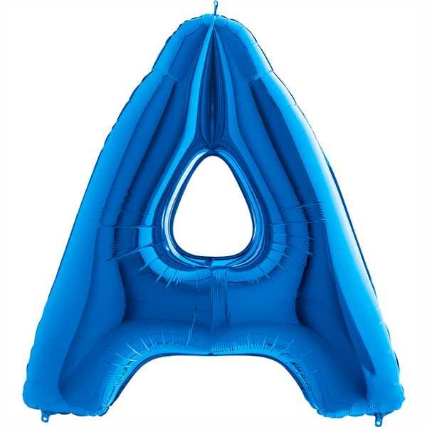 "Grabo Folienballon Buchstabe Blau 40"""