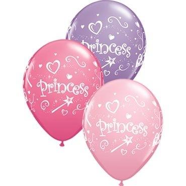 "Qualatex Latexballon Princess Assorted Pink, Rose & Spring Lilac 28cm/11"" 50 Stück"