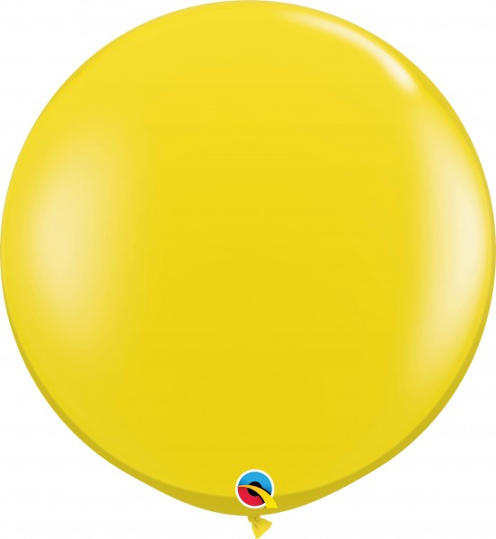 Qualatex Latexballon Jewel Citrine Yellow 90cm/3' 2 Stück