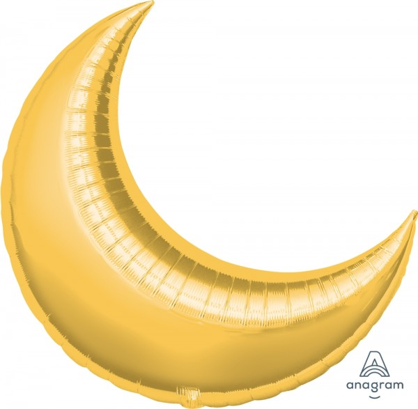 Anagram Folienballon Mond Gold (Crescent Gold) 35""