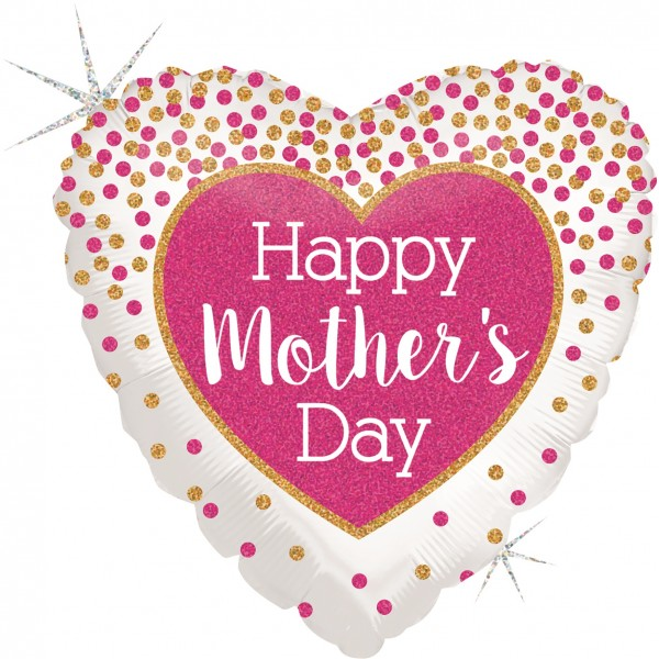 "Betallic Folienballon Happy Mother's Day Holo 46cm/18"""