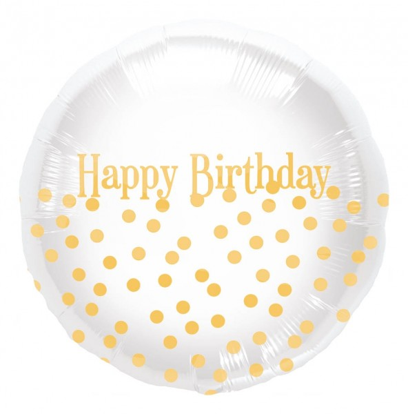 "Northstar Folienballon Happy Birthday Dots 18"""