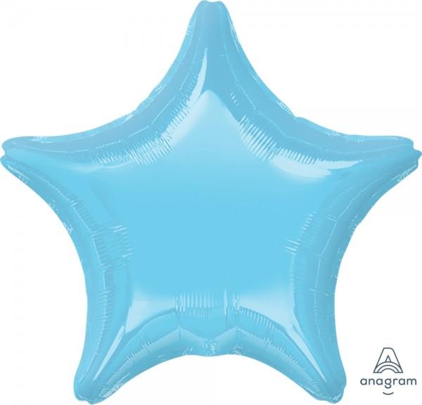 "Anagram Folienballon Stern Iridescent Pearl Hellblau (Iridescent Pearl Lite Blue) 20"""