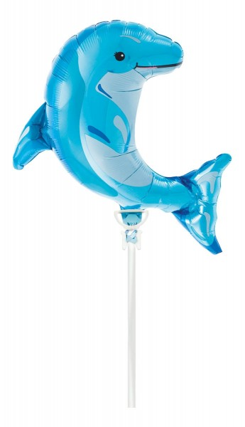 Northstar Folienballon Blue Dolphin 14""