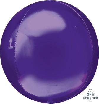 Anagram Folienballon Orbz 40cm Durchmesser Lila (Purple)