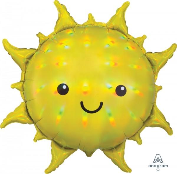 "Anagram Folienballon Super Shape Iridescent Sun Yellow Holo 68cm/27"""
