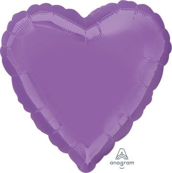 Anagram Folienballon Herz 45cm Durchmesser Helllila (Spring Lilac)