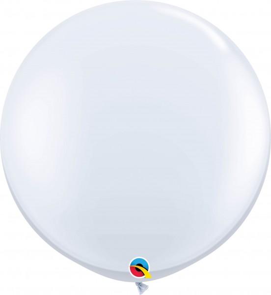 Qualatex Latexballon Standard White 90cm/3' 2 Stück