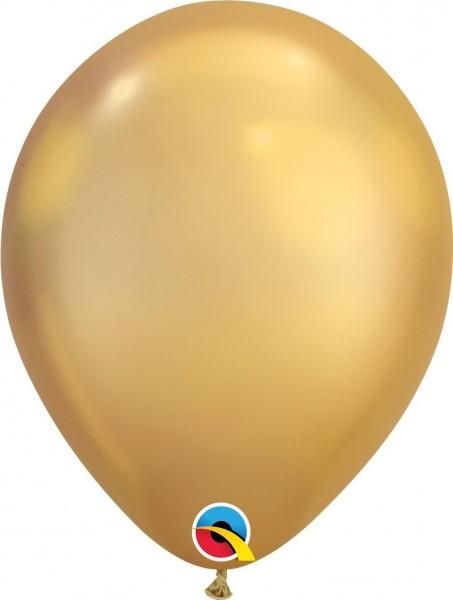 "Qualatex Latexballon Chrome Gold 28cm/11"" 25 Stück"