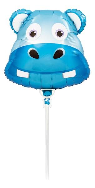 "Northstar Folienballon Happy Hippo Head 14"""